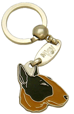 BULL TERRIER BLACK & TAN - pet ID tag, dog ID tags, pet tags, personalized pet tags MjavHov - engraved pet tags online